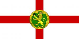 Alderney zászlója