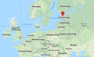 Észtország elhelyezkedése