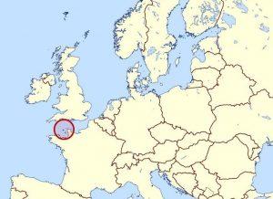 Guernsey elhelyezkedése