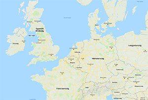 Írország elhelyezkedése