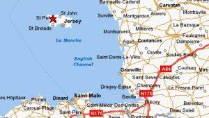 Jersey elhelyezkedése